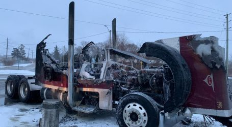 Theft and recovery of a semi-tractor